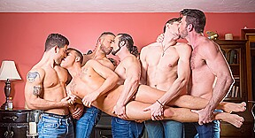 Billy Santoro & Jack Hunter & Brandon Wilde in Brandon Wilde's First Gangbang, Scene 01 - IconMale
