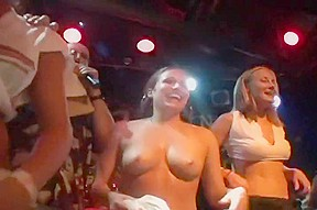 Hot wet amateur strippers on stage...