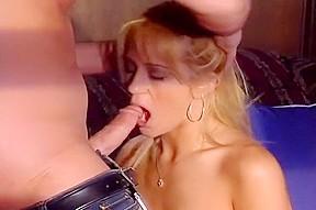On this blond cocksucker...