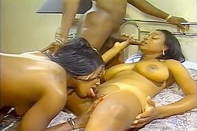 Ebony couples throw an orgy...