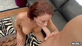 Vanessa gobbles cock like a caged animal...