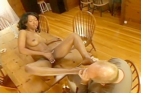 Black panther stacey cash gets a load nice...