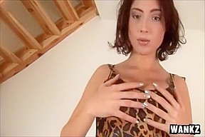 Babe stracy stone massaging her pink pussy...