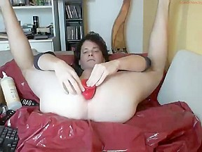 Gaping my ass with my big dildo
