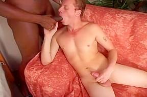 In interracial guy fuck...