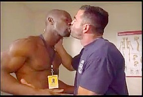 Hot Muscled Black Doctor Checking Up His Gay Patient