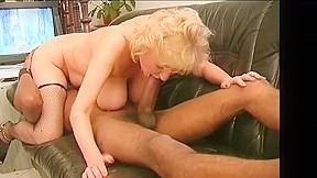 Busty blonde milf takes bbc