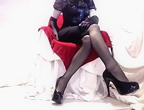 Sexy Seamed Stockings and Heels