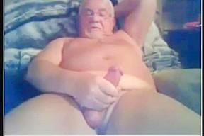 Grandpa cum on cam 7...