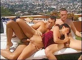 Fabulous pornstar Adrienne Klass in incredible threesomes, outdoor porn clip