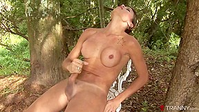 Kamila smith in kamila explores the forrest and...