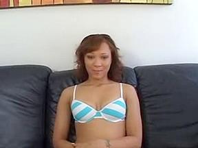 Sexy ebony bitch is couch...