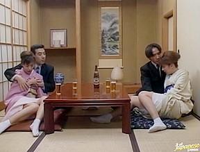 Mio okazaki and uzushino gangbang...
