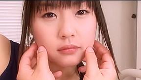 Nice Asian teen Tsubomi in swimsuit fingering pov action
