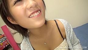 Nice Asian teen enjoys a huge cock to fuck