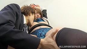 Horny mako higashio gets banged office...
