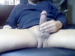 Playing hard cock...