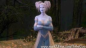 Elf enchantress fucks and gives magical blowjob...
