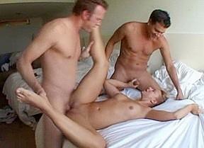 Horny best blonde threesomes...