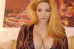 Gorgeous Blond w Big Tits Talks Dirty