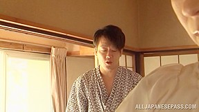Hisae Yabe is a hot mature babe in position 69