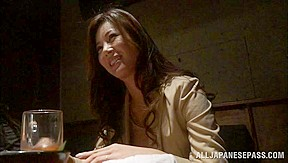 Mature Japanese model enjoys a young hard cock