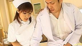 Nao ayukawa asian doll in nurse uniform gets...