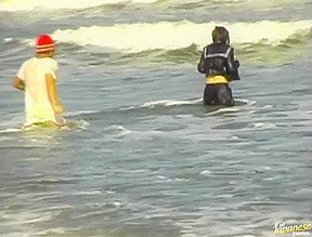 Mina kozina has hardcore sex on the beach...