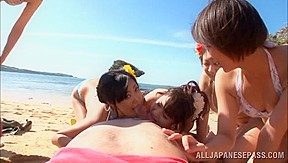 Erotic group action beach...