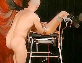 1St she's fisted, then her labia receives pierced!