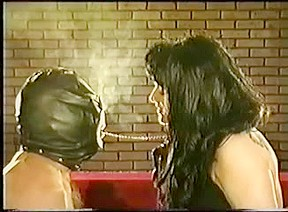Leather Gloved Dark Brown Female-Dominant Smokin' Anguish Up-Close