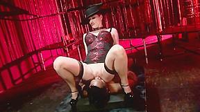 Stockings blowjob porn scene...