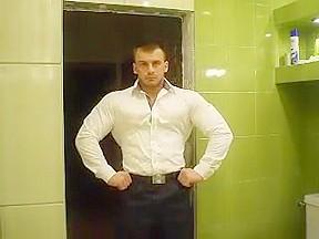 Russian bodybuilder strip...