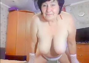 Game grandma in front of webcam...