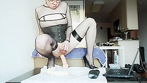 With stockings lingerie scenes...
