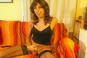 Amazing homemade shemale clip with Stockings, Webcam scenes