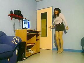 Fabulous amateur shemale movie with Webcam, Mature scenes