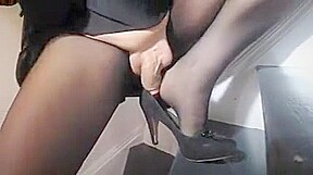 Amazing homemade shemale video with Stockings scenes