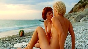 Lesbian outdoor sex scene...