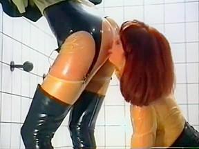 Incredible homemade latex foot worship porn scene...