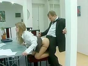 Exotic secretary scene...