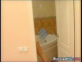 Russian Teen Fucked In The Bathroom