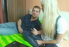 Randy pleasuring for girlfriend