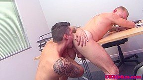 Muscular british fuck action...