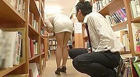 panty teasing librarian