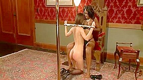 Black mistress torturing and fucking her white maid...