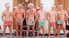 Christmas 2016 6 man orgy military porn video...