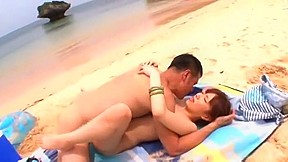 Horny miu fujisawa in hottest college beach jav...
