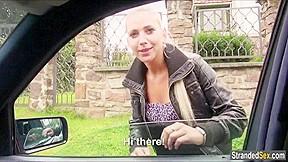 Jessie sinclair gets banged back of car...