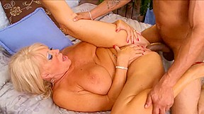 Blonde granny gets pounded by BBC